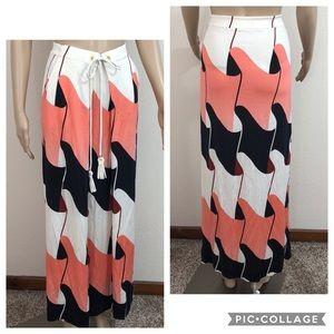 Diane von Furstenberg Eranthe Long Maxi Skirt